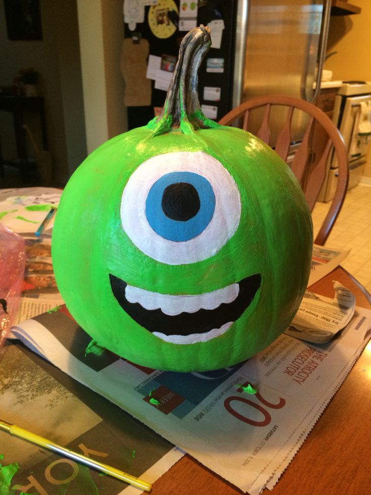 Mike From Monsters Inc Pumpkin | Citrouille Halloween à Citrouille Monstre
