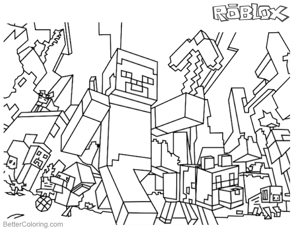 Minecraft Coloring Pages Roblox Coloring Pages - Free tout Coloriage Minecraft