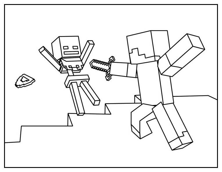 Minecraft Free To Color For Children - Minecraft Kids dedans Coloriage Minecraft