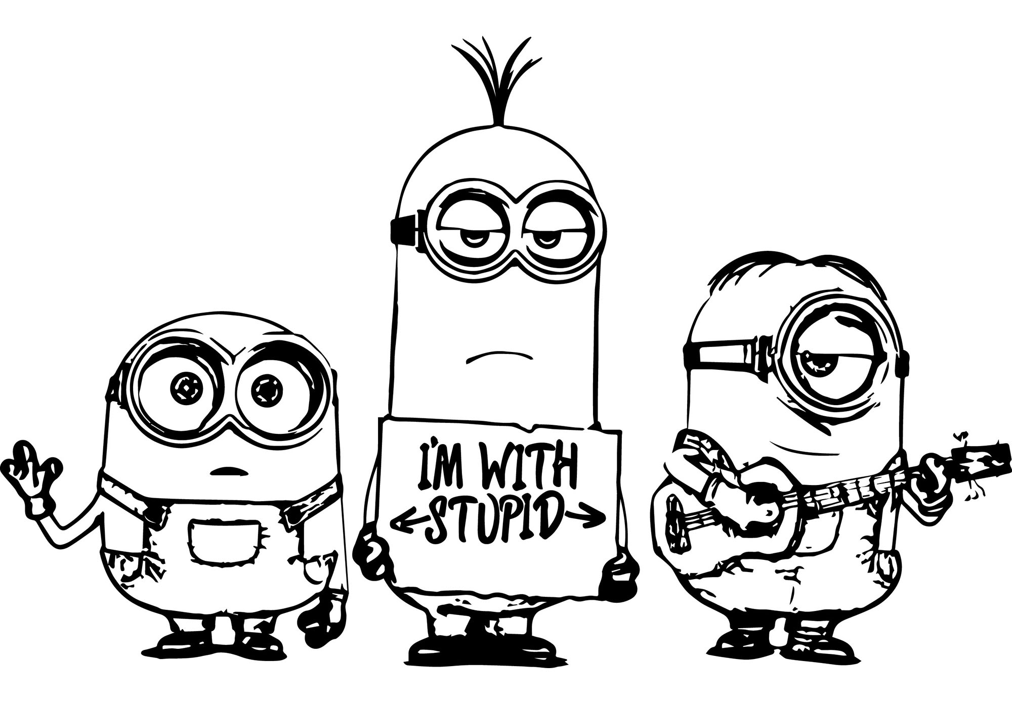 Minions To Color For Children - Minions Kids Coloring Pages tout Coloriage Minion