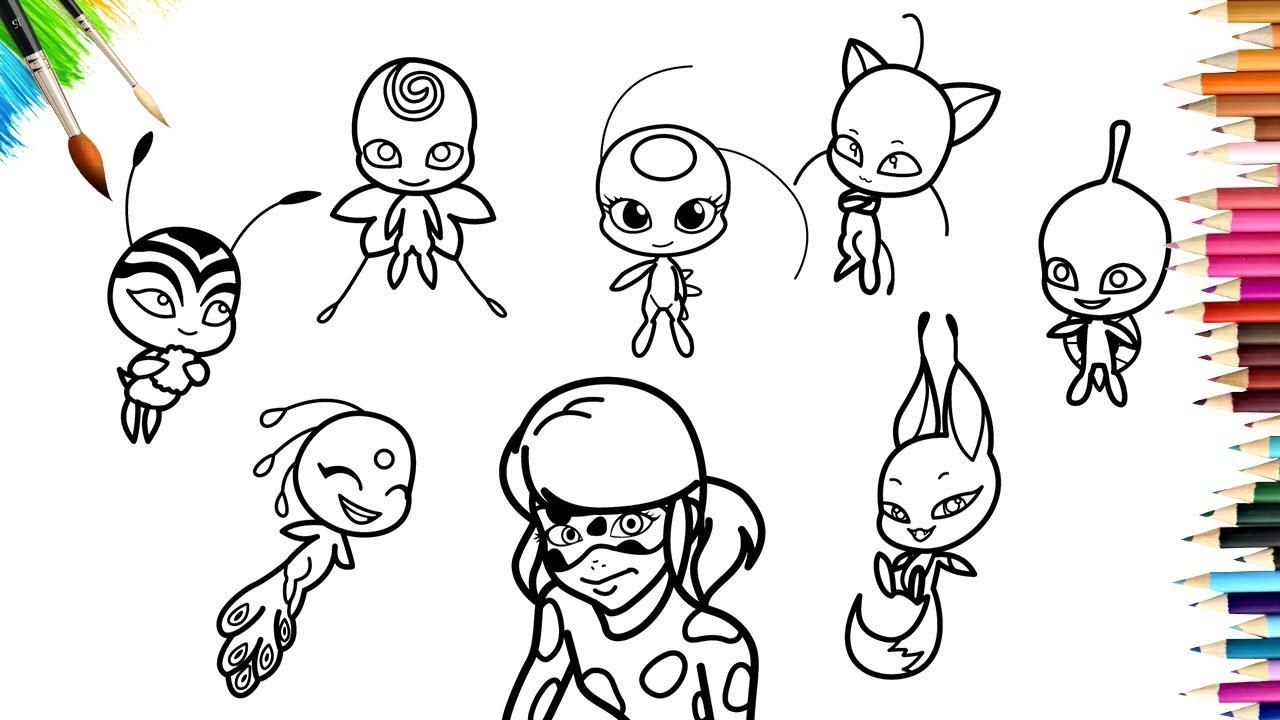 Miraculous Ladybug Season 2 Kwami Coloring Book - concernant Coloriage Miraculous
