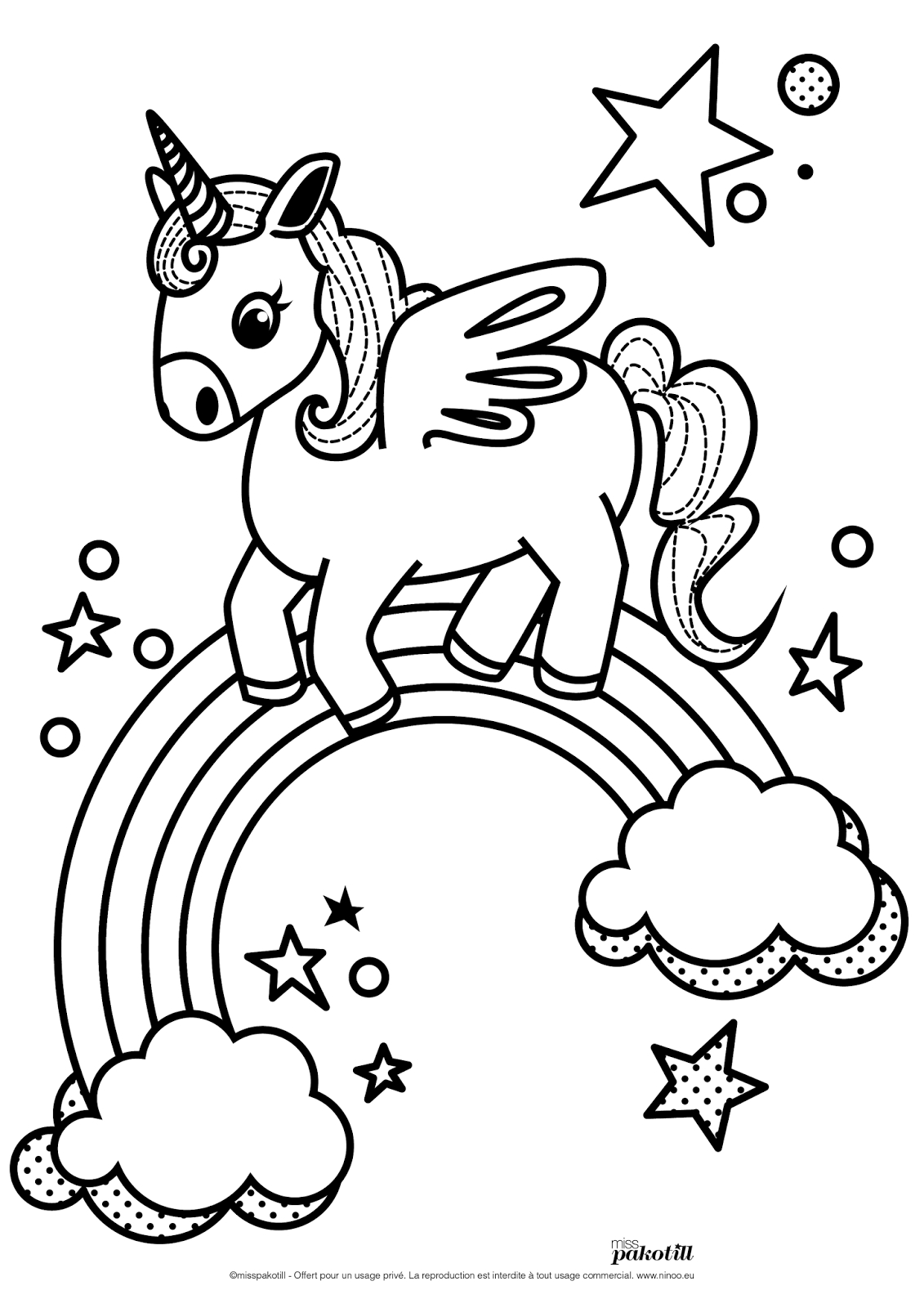 Miss-Pakotill-Illustration-Coloriage-Association-Ninoo destiné Coloriage Licorne Kawaii Dessin Kawaii A Imprimer