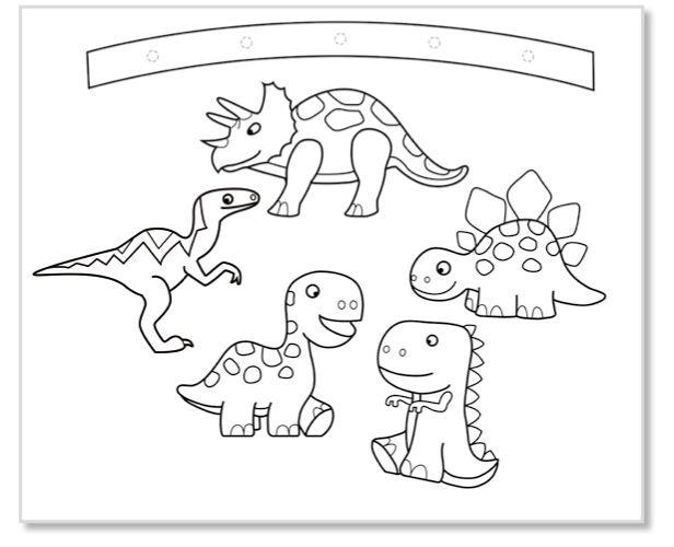 Mobile Dinosaures À Colorier - Dinosaures Tête À Modeler à Coloriage Sur Portable