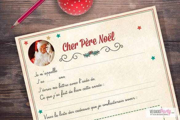 Modèle De Lettre Au Père Noël À Imprimer Pour Les Enfants pour Lettre Au Pere Noel 2020