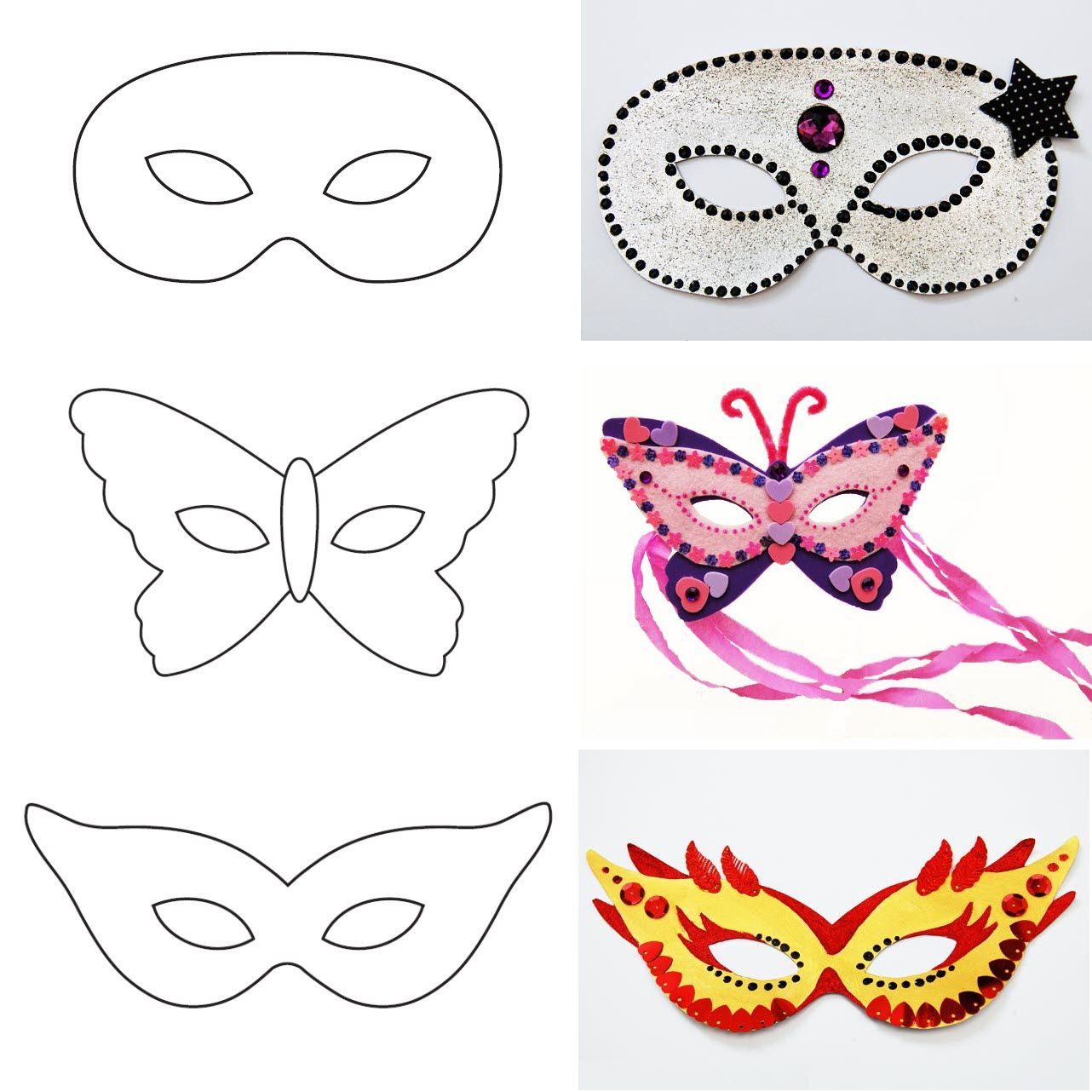 Modèle De Masque De Carnaval À Imprimer | Decoração De avec Masque De Poule À Imprimer