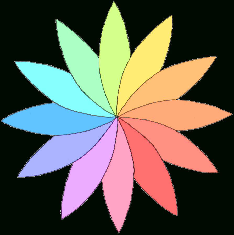 Modèle De Rosace En Fleur De Pâquerette Colorée - Dix destiné Dessin Rosace Fleur