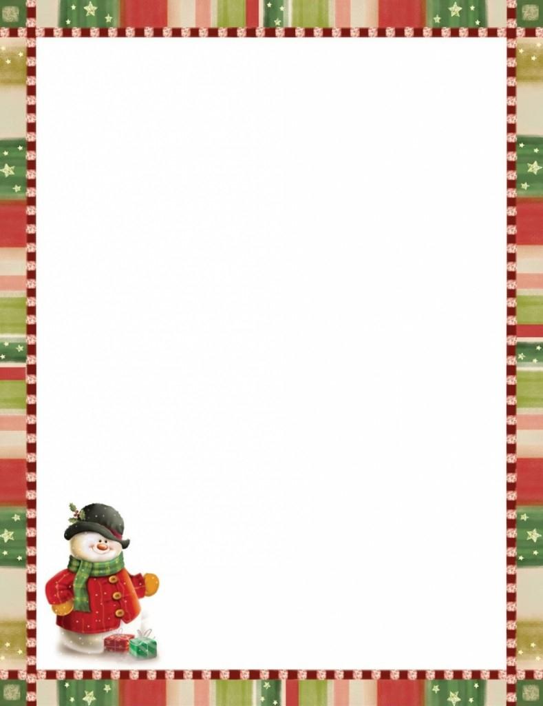 Modèle Papier À Lettre Pere Noel Word concernant Papier À Lettre Pere Noel