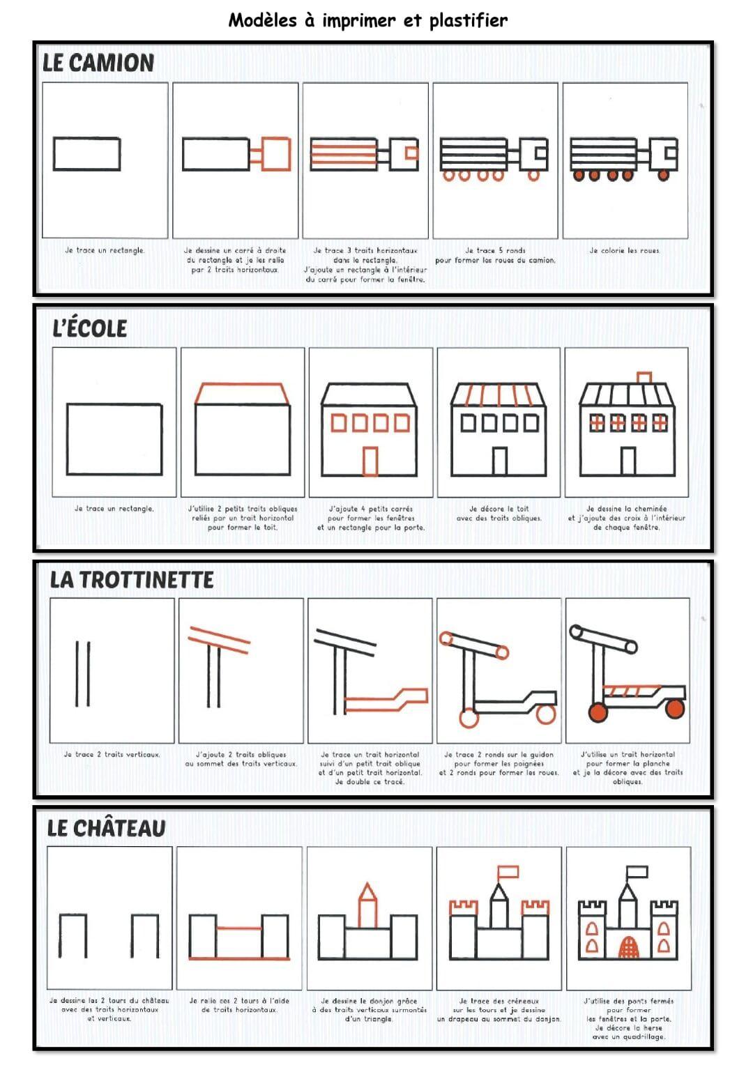 Modèles Dessin Guidé.pdf - Onedrive | Dessin, Modele dedans Maicresse Karine