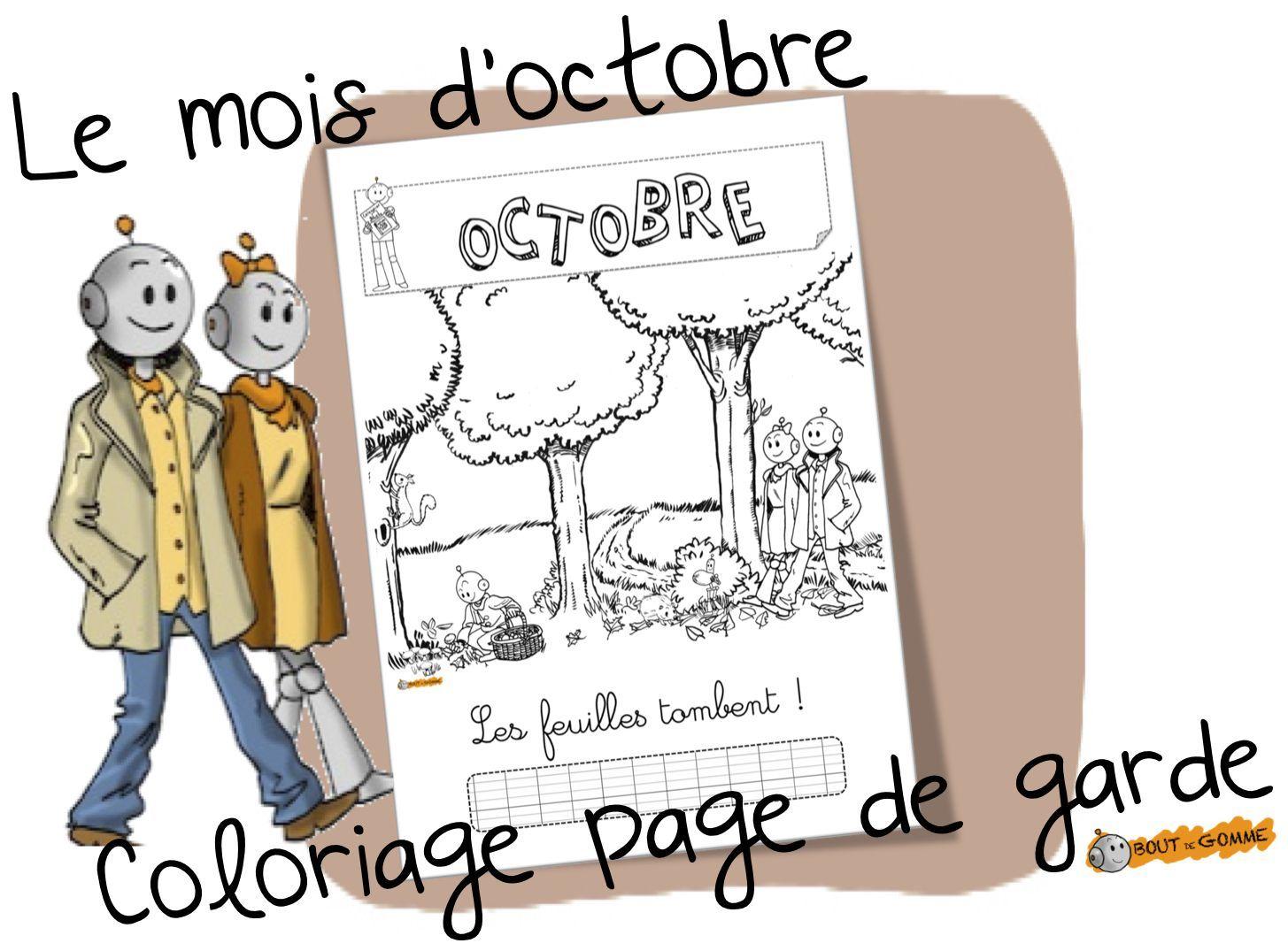 Mois D'Octobre : Coloriage De La Page De Garde - Bout De à Coloriage Septembre
