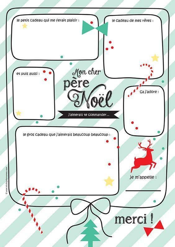 Mon Cher Père Noël (Free Printable) (Avec Images) | Lettre serapportantà Lettre Au Pere Noel 2020