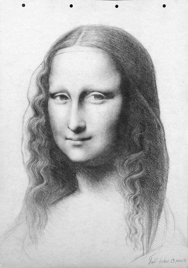 Mona Lisa [Lawy] (Gioconda / Mona Lisa) (Com Imagens serapportantà La Joconde Dessin