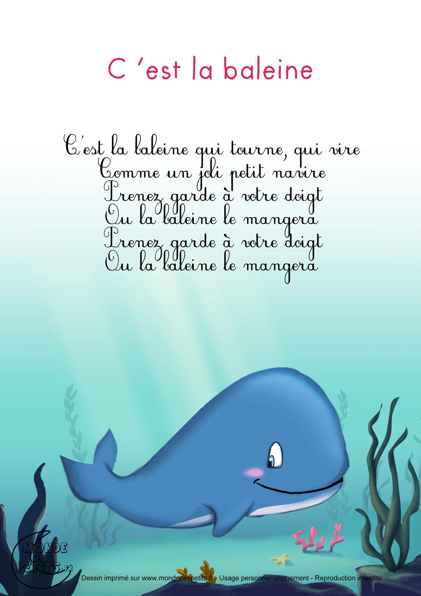 Monde Des Petits - C'Est La Baleine avec Comptine Enfant Parole