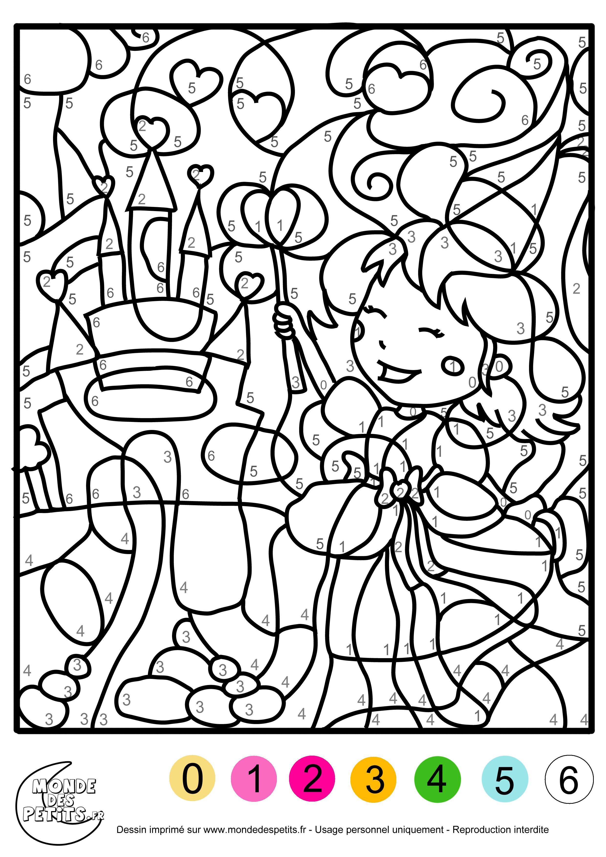 Monde Des Petits - Coloriages À Imprimer dedans Coloriage À Imprimer Avec Code Couleur