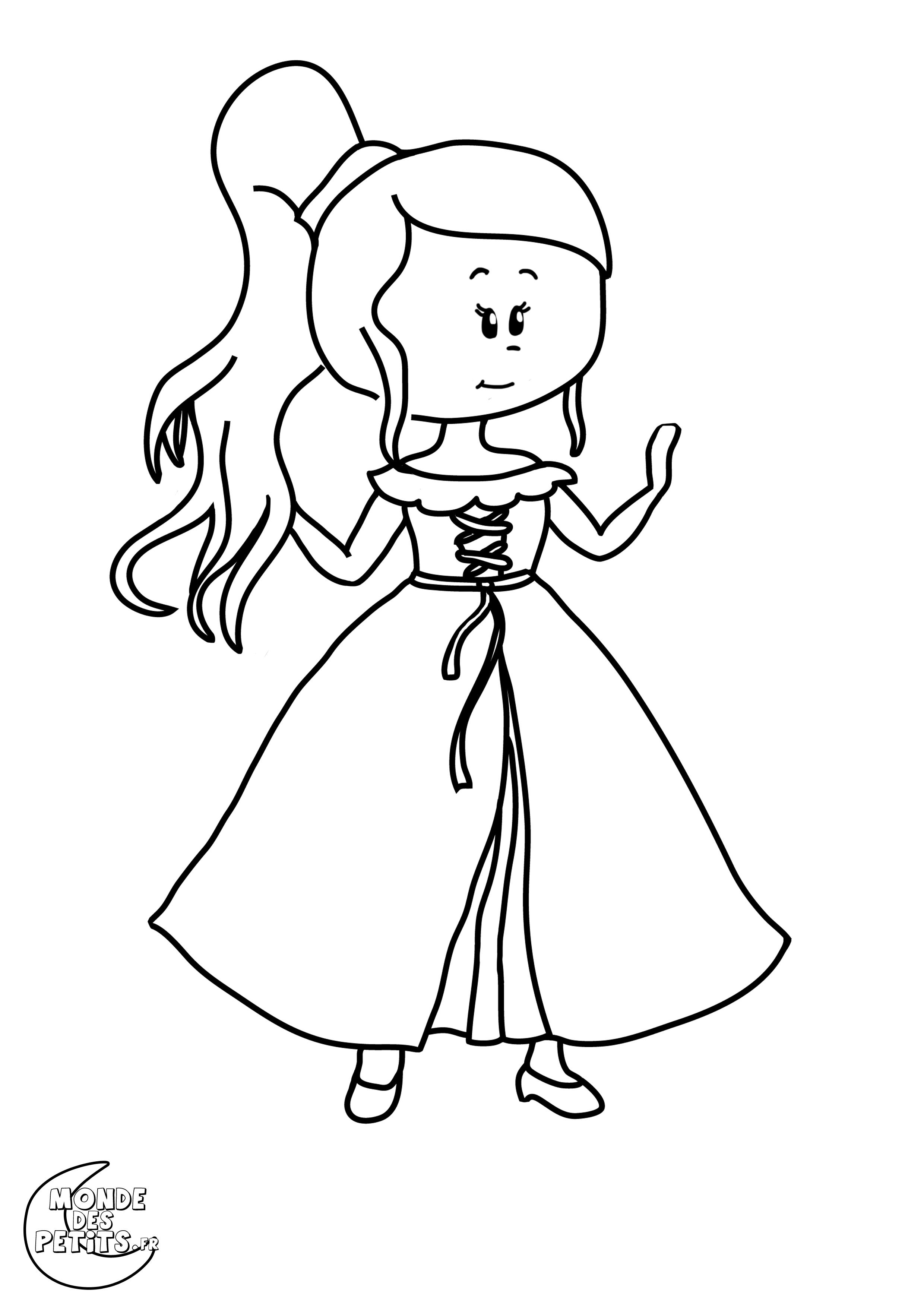 Monde Des Petits - Coloriages À Imprimer destiné Coloriage Princesse