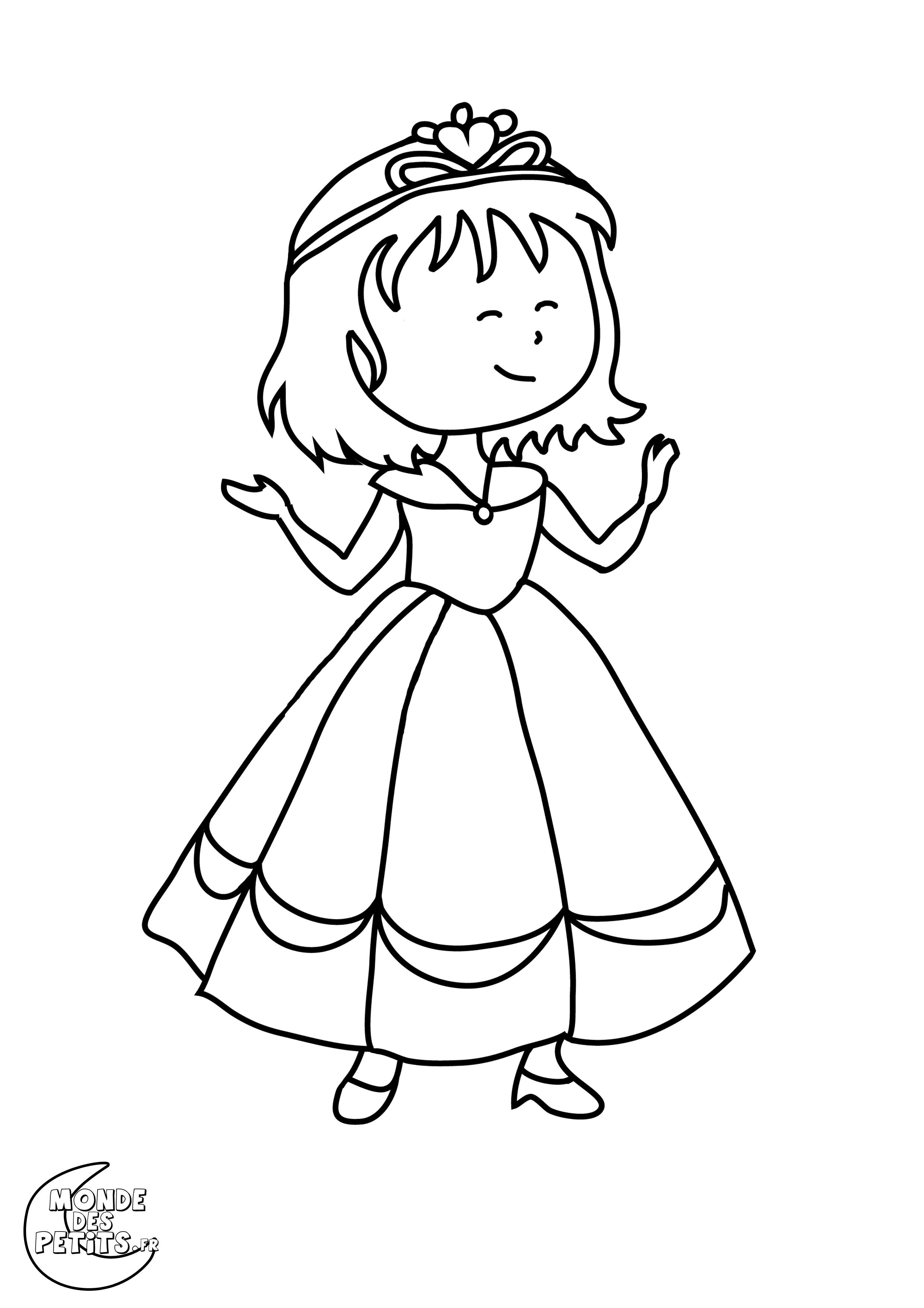 Monde Des Petits - Coloriages À Imprimer tout Coloriage Princesse