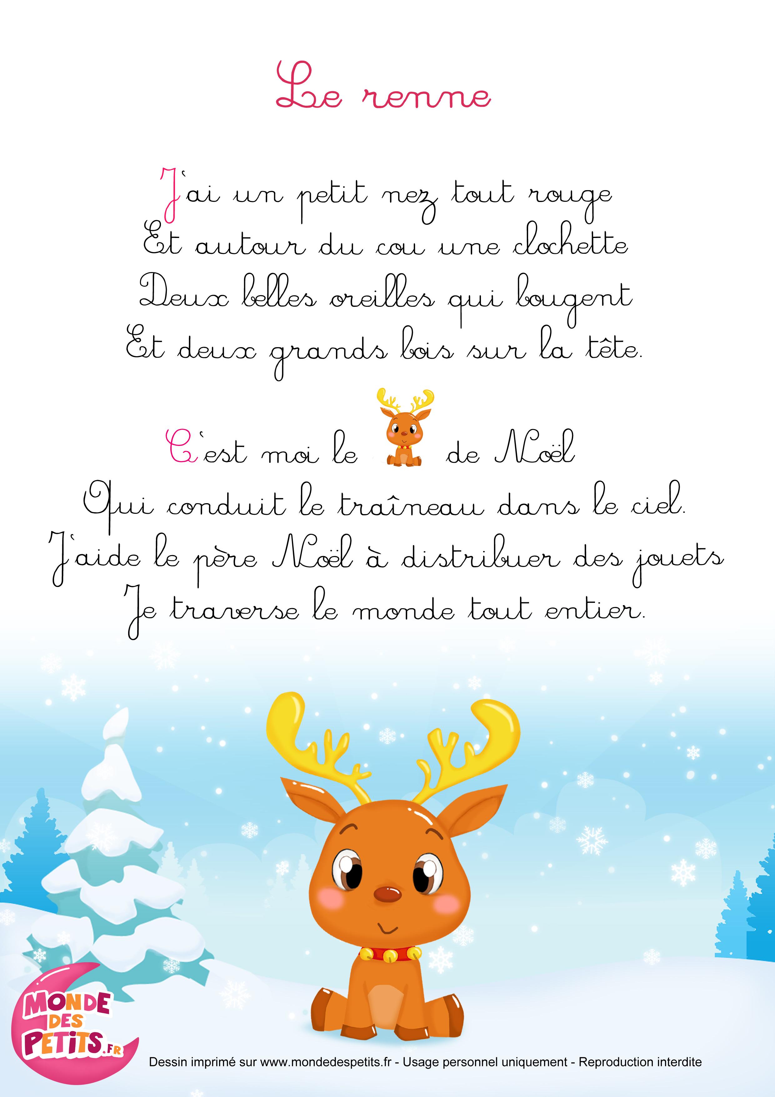 Monde Des Petits - La Comptinette Du Renne De Noël tout Monde Des Petits