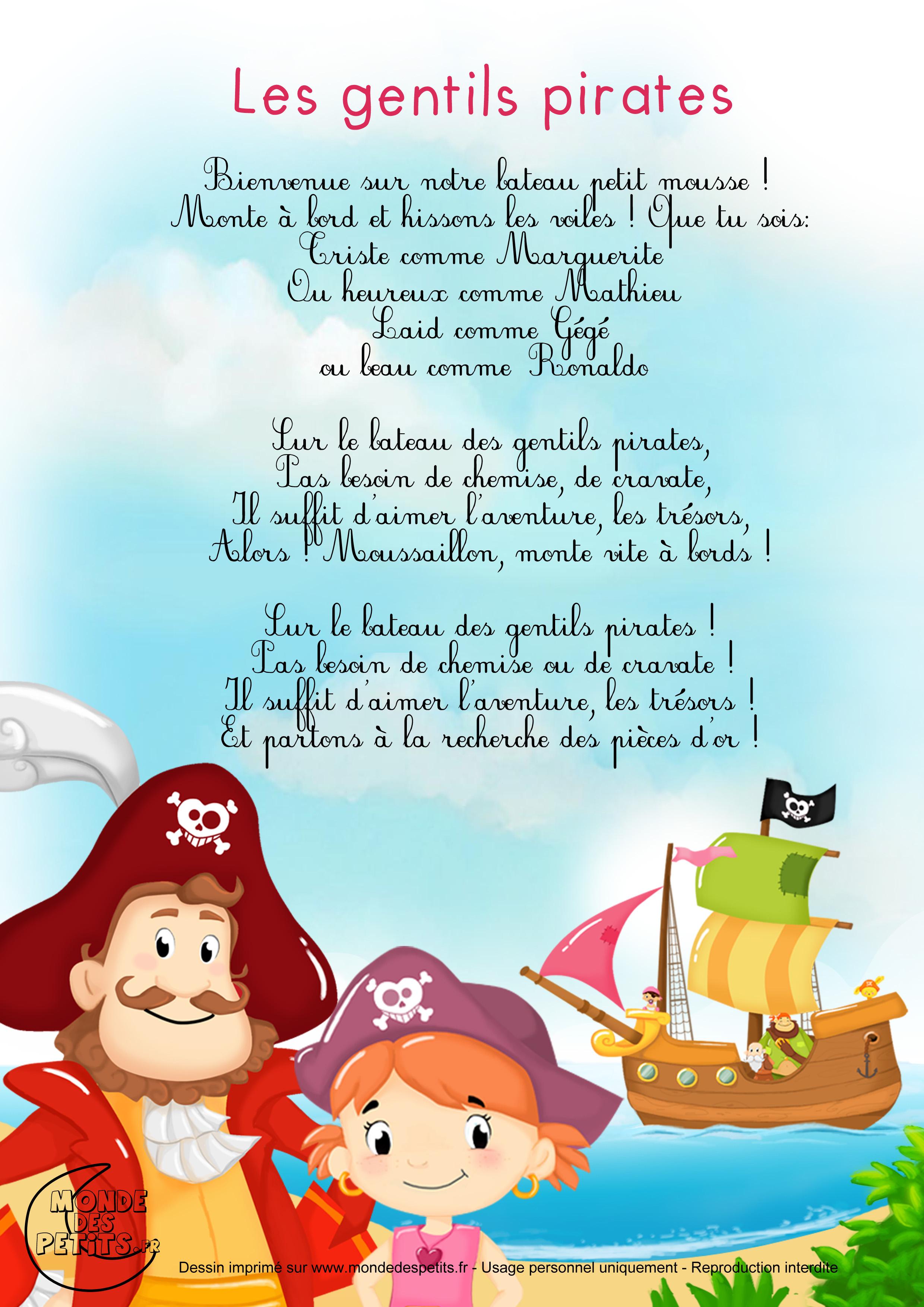 Monde Des Petits - Les Gentils Pirates intérieur Les Chanson Pour Les Bébé