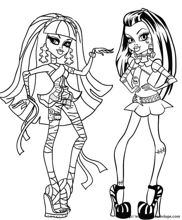 Monster High Da Colorare : Colorare.ploo.fr intérieur Dessin A Imprimer Monster High