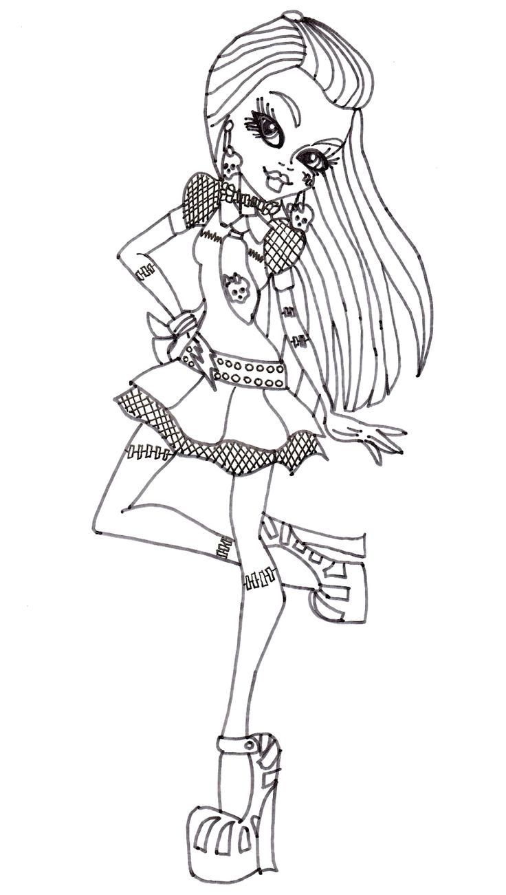 Monster High Frankie Stein Style Coloring Pages à Coloriage Styl? ? Imprimer