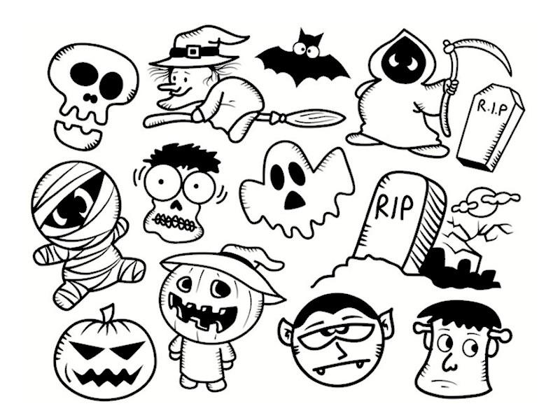 Monstres D'Halloween : Les Coloriages intérieur Modele Dessin Halloween
