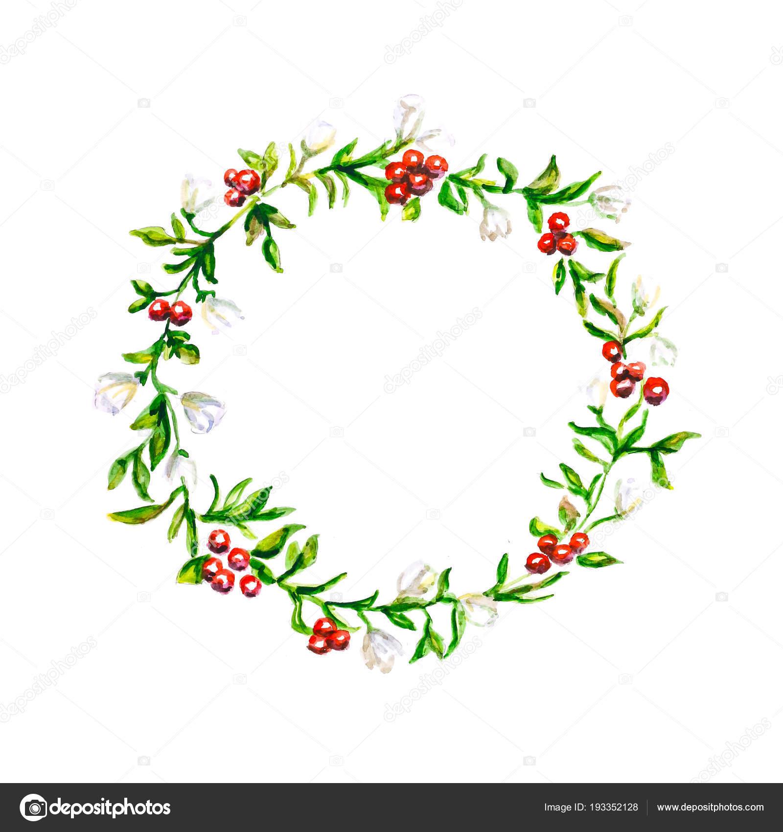 Motif Partir Plantes Une Couronne Fleurs Plantes Dessinés serapportantà Couronne De Fleurs Dessin