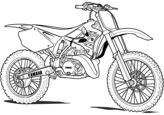 Moto Cross   Comment Dessiner Une Moto, Coloriage Moto Et pour Coloriage De Moto Cross