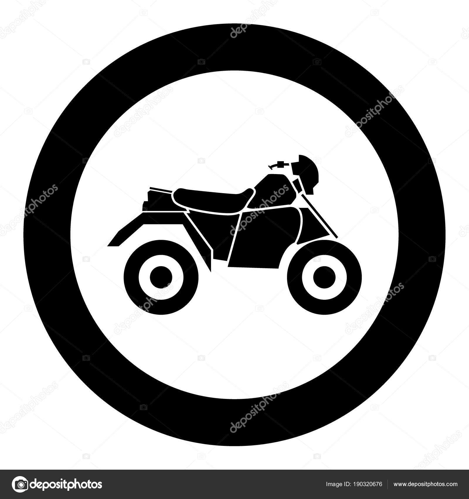 Moto Vtt Sur Quatre Roues Noir Icône Illustration Vecteur destiné Dessin 4 Roues