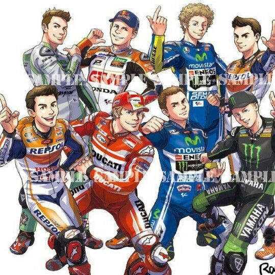 Motogp Cartoon   Racing Bikes, Motogp Rossi, Motogp destiné Dessin De Moto Gp