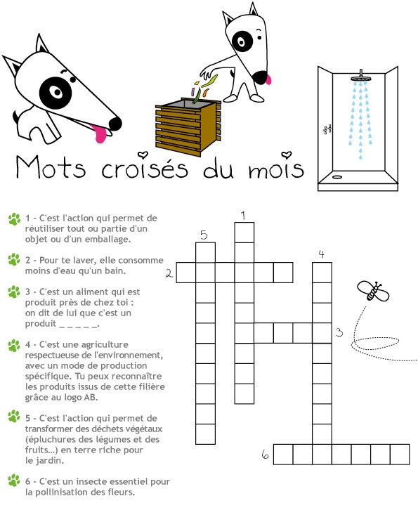 Mots Croisés N°13 - Le Développement Durable - La Table tout Mot Crois?