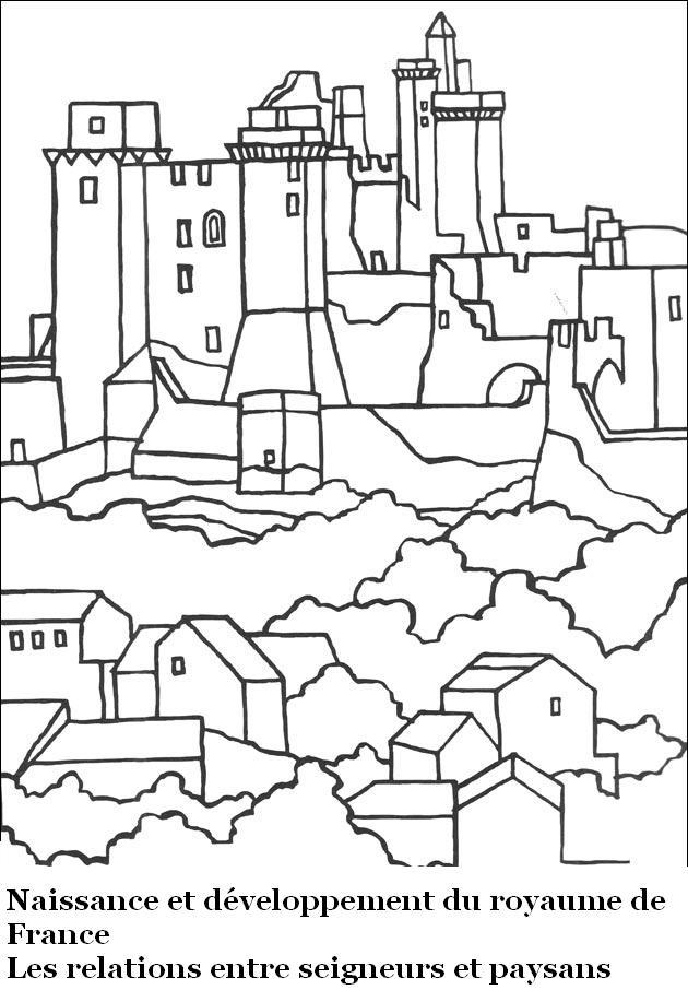 Moyen-Age : Les Relations Entre Seigneurs Et Paysans | Ma encequiconcerne Dessin Chateau Moyen Age