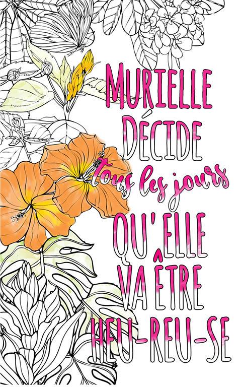 Murielle Est Formidable. Le Livre Personnalisé De tout Livre Coloriage Personnalisé