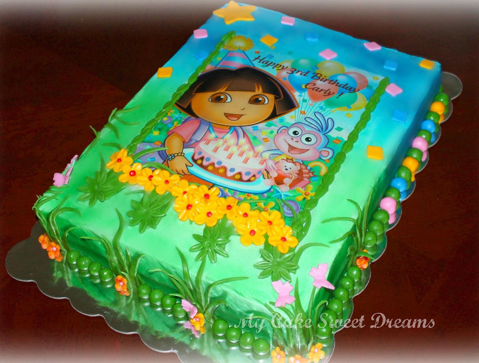 My Cake Sweet Dreams: Dora Birthday Cake intérieur Gateau Dora