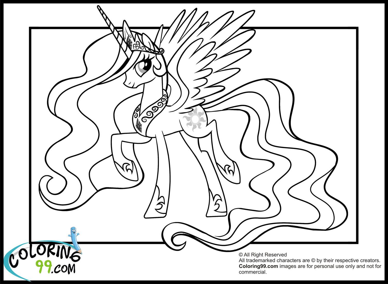 My Little Pony Princess Celestia Coloring Pages | Team Colors destiné My Little Pony A Imprimer