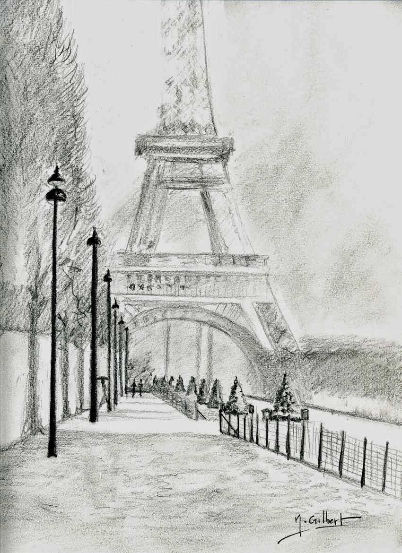 Nabrochot-Creations: Paris - La Tour Eiffel serapportantà Tour Effel Dessin