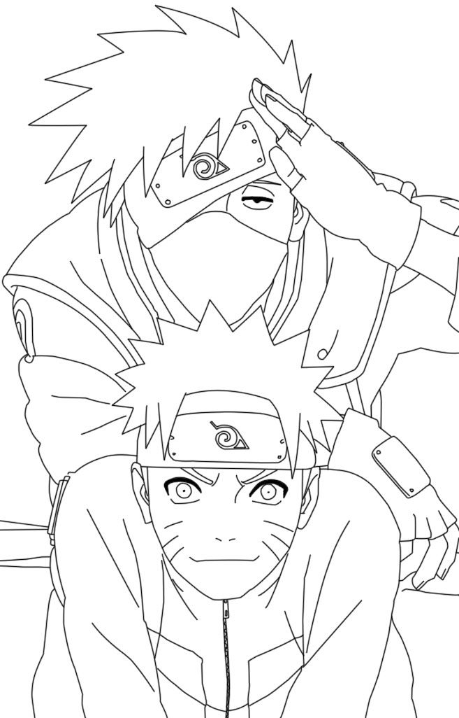 Naruto And Kakashi Coloring Pages | Coloriage Naruto avec Coloriage Naruto Shippuden