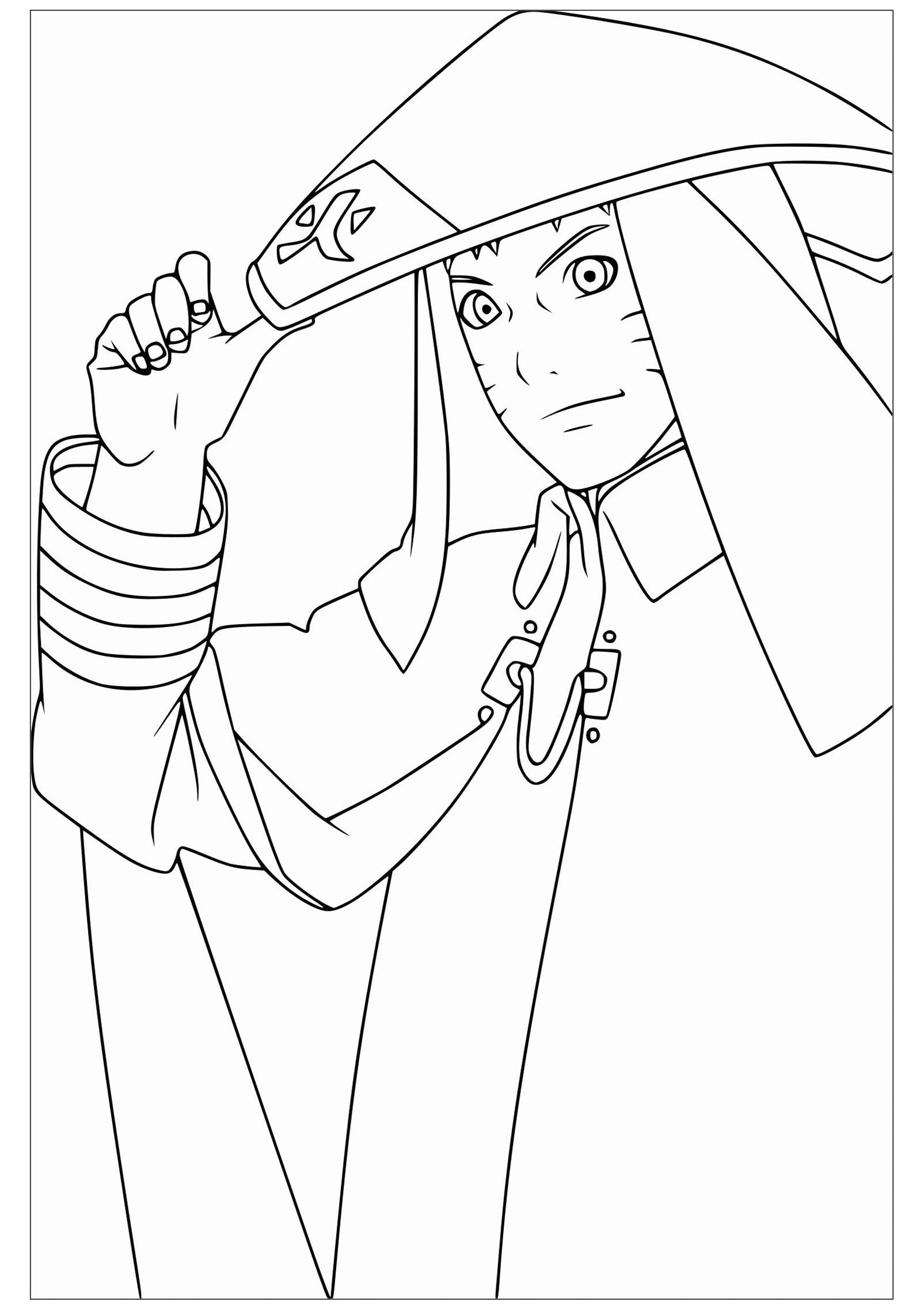 Naruto - Coloriage Naruto - Coloriages Pour Enfants avec Dessin De Naruto