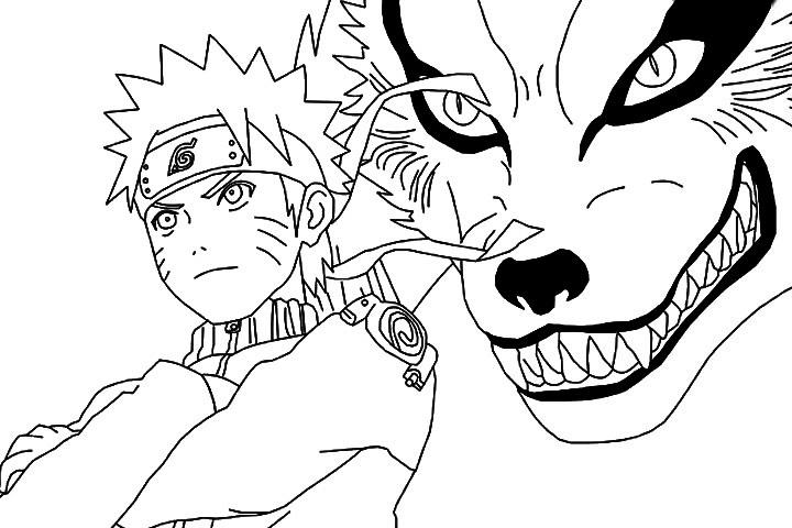 Naruto Coloring Page | Coloring Draw avec Coloriage Naruto