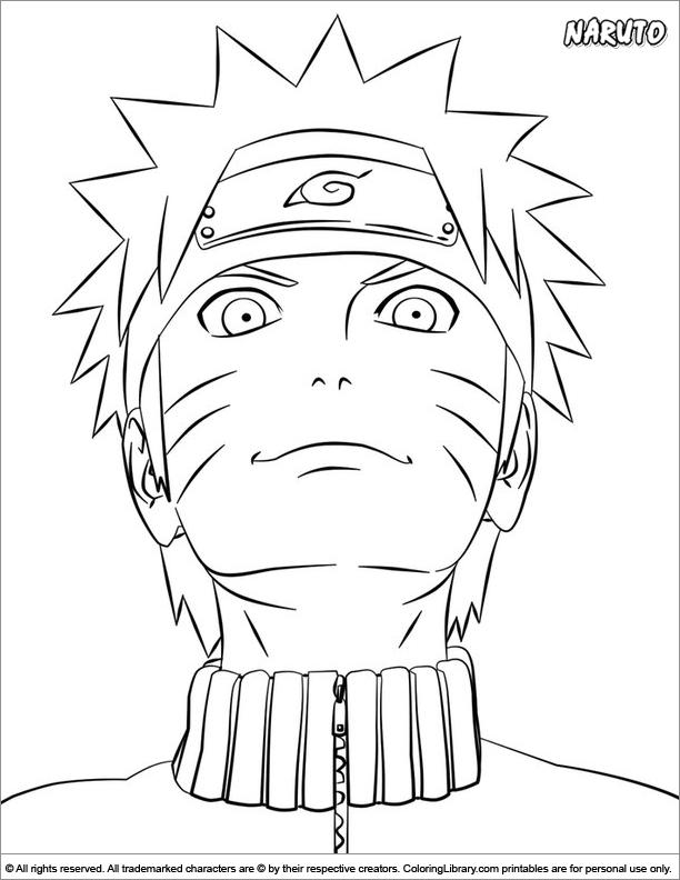 Naruto Coloring Picture pour Dessin Naruto Shippuden A Imprimer