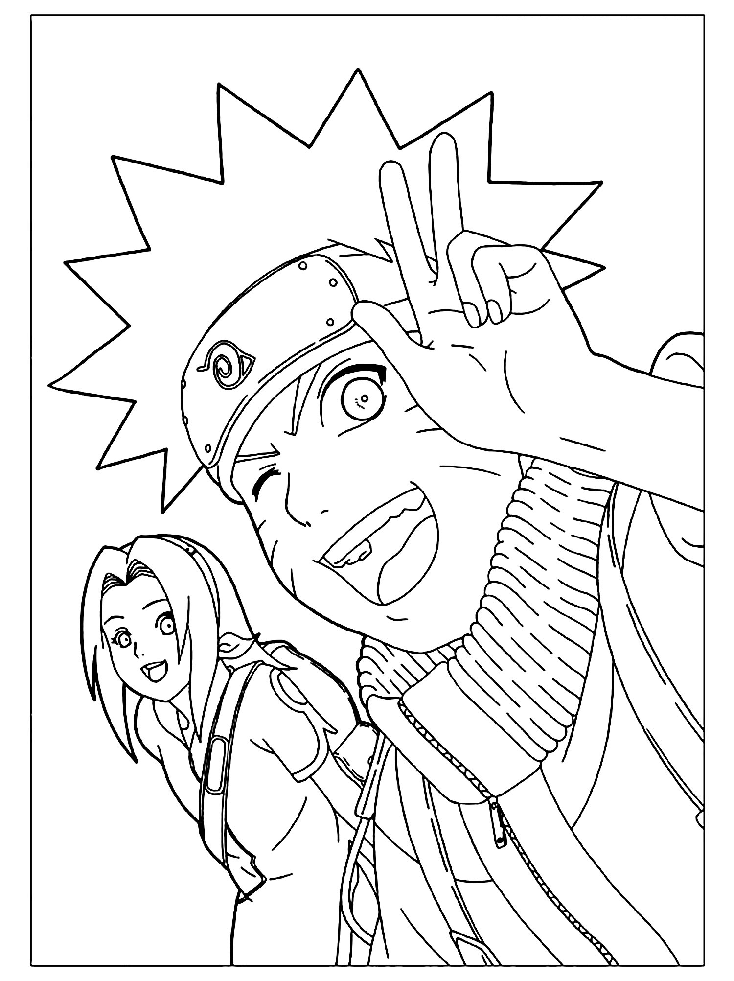Naruto Et Sakura - Coloriage Naruto - Coloriages Pour Enfants tout Dessin De Naruto