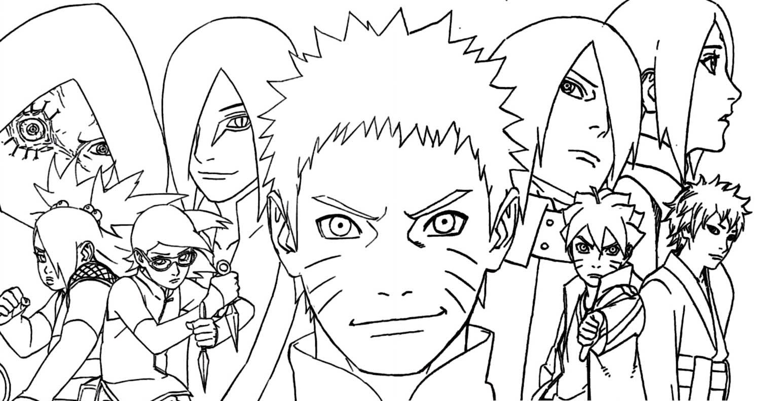 « Naruto Gaiden : Le 7E Hokage Et La Lune Écarlate » Par serapportantà Dessin A Imprimer De Naruto