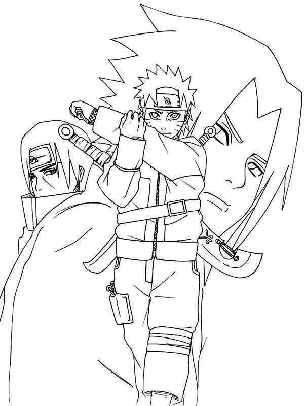 Naruto Shippuden Coloring Page - Download & Print Online encequiconcerne Naruto Shippuden Coloring Pages