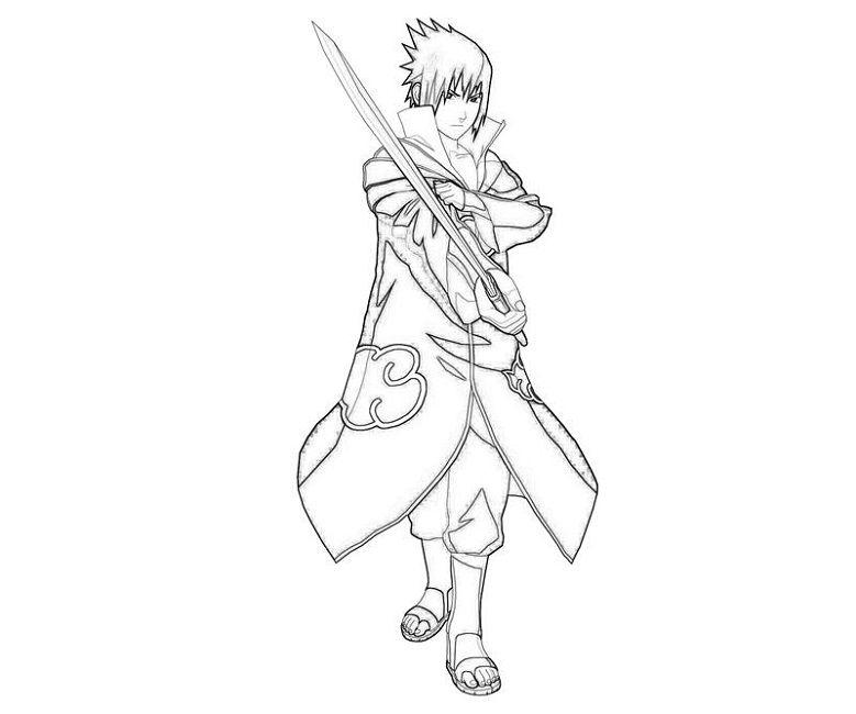 Naruto Shippuden Sasuke Coloring Pages | Ideias Para destiné Coloriage Sasuke Gratuit A Imprimer