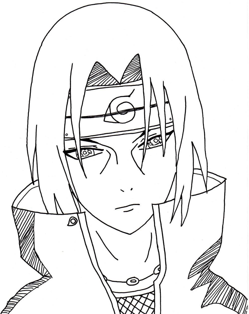 Naruto - The Way Of Naruto - Itachi !! De Dolurn concernant Dessin Naruto Shippuden A Imprimer
