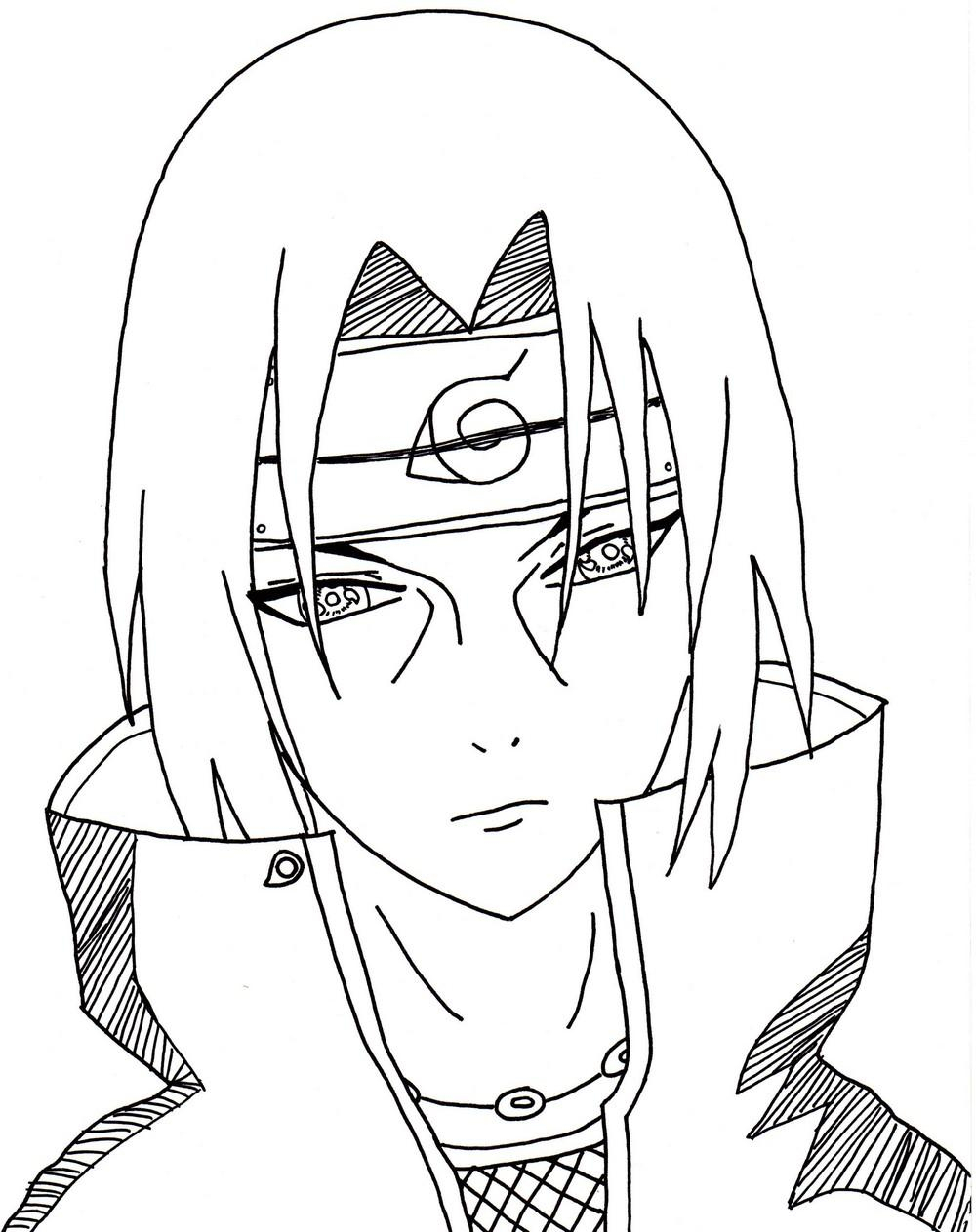 Naruto - The Way Of Naruto - Itachi !! De Dolurn tout Dessin De Shino Shippuden En Couleur