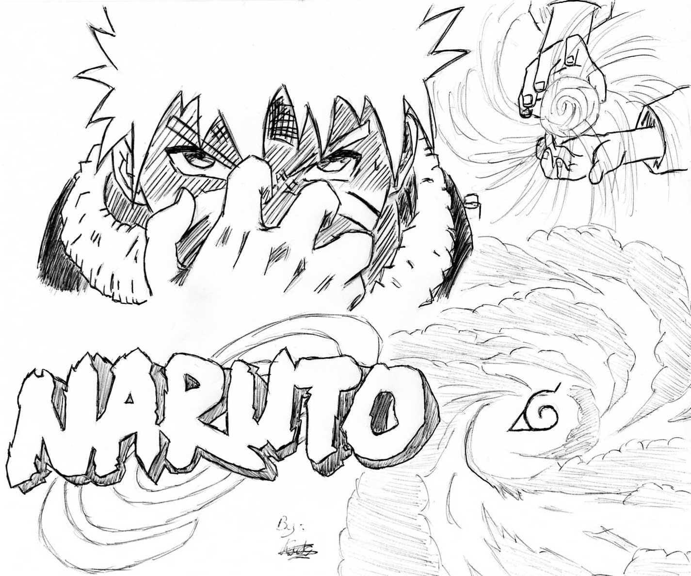 Naruto - The Way Of Naruto - Naruto Rasengan De Kouty44 tout Dessin De Shino Shippuden En Couleur