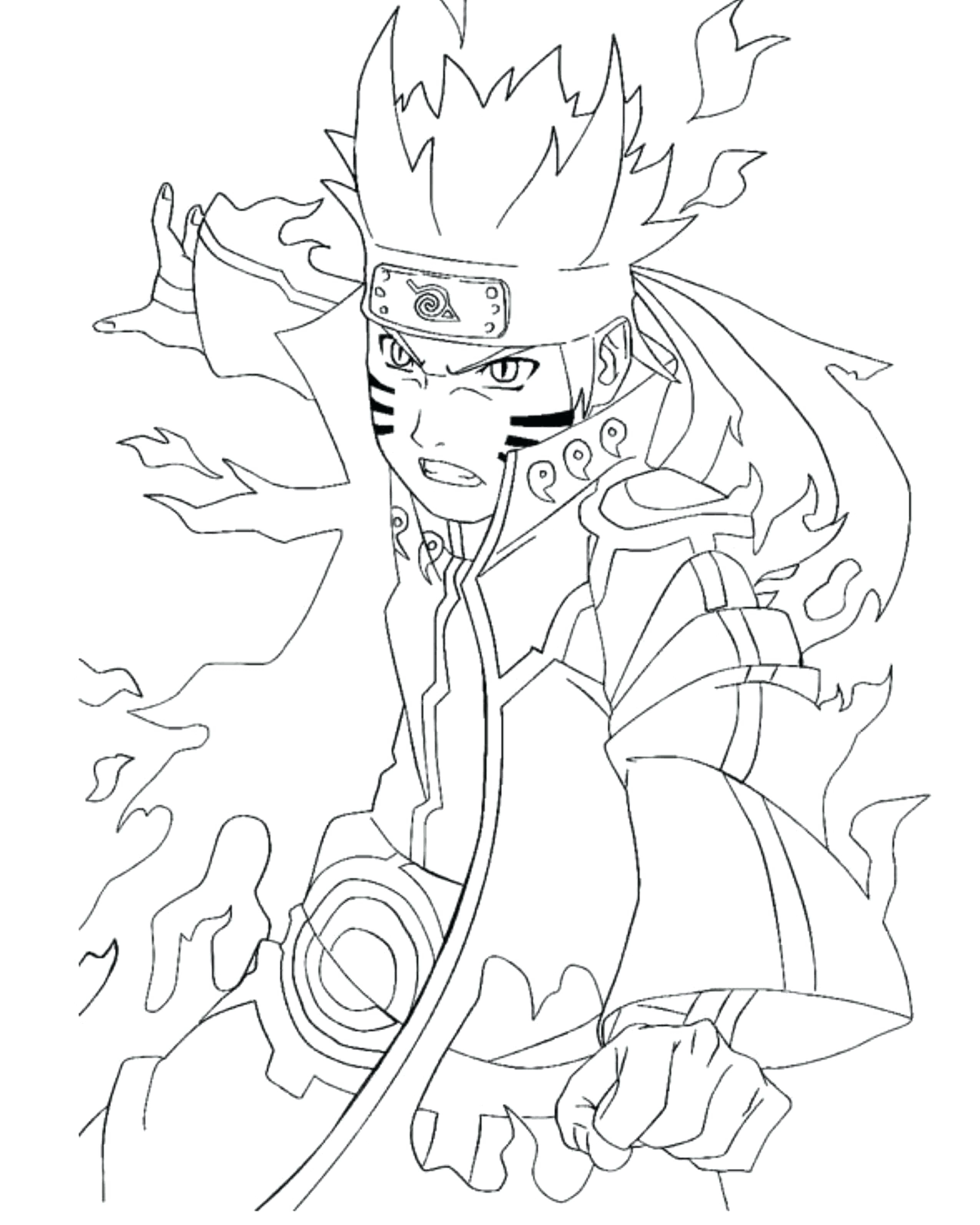 Naruto Vs Sasuke Drawing At Getdrawings | Free Download tout Naruto Coloriage