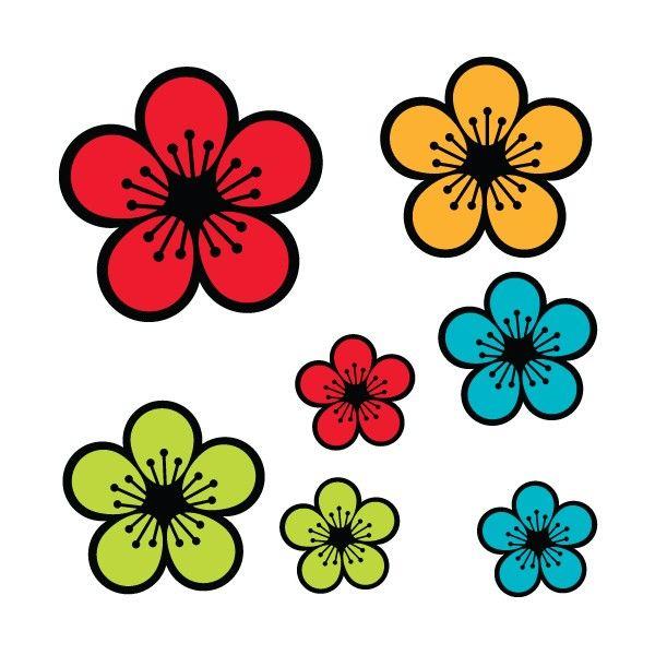 Nature-Fleurs-11802 (600×600) | Stickers Fleurs intérieur Coloriage Hawaienne