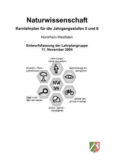 Naturwissenschaft Kernlehrplan Für Die Jahrgangsstufen 5 Und 6 intérieur Kernlehrplan