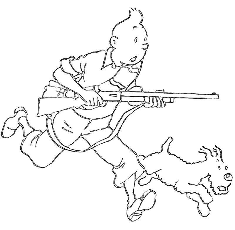 Nerf Gun Coloring Pages - Coloring Home destiné Coloriage Tintin Et Milou