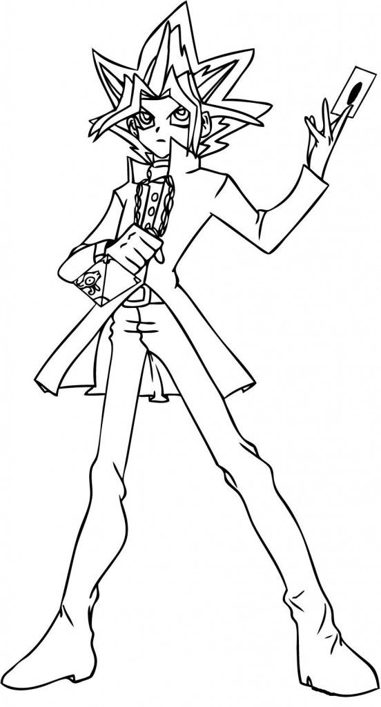 Nice Yugioh Coloring Pages To Print dedans Colloriage